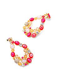 Pendients de aro Cristal Personalizado Estilo lindo Euramerican Rojo Joyas Para Boda Fiesta Cumpleaños 1 par