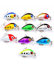 "10 pcs Hard Bait Crank Fishing Lures Crank Lure Packs Hard Bait Multicolored g/Ounce,30 mm/1"" 2-11/16"" inch,Hard Plastic PlasticBait"