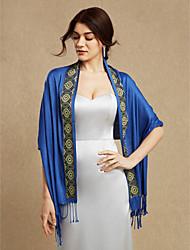 Women Wrap Shawls Cotton Wedding Party/Evening Tassels
