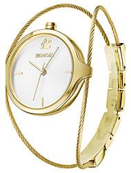 WeiQin Mulheres Relógio de Moda Chinês Quartzo Lega Banda Prata Dourada Ouro Rose