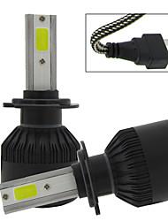 Txvso8 2xh7 100w 12000lm Auto Beleuchtung 12v Umwandlung Kit Cob Chips Auto Nebel Glühbirne 6000k weiß Automotive Scheinwerfer H7 LED