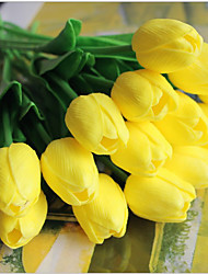 5 Branch Real touch Tulips Tabletop Flower Artificial Flowers