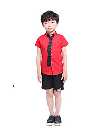 Boys' Going out Casual/Daily School Print Sets,Cotton Summer Short Sleeve Clothing Set