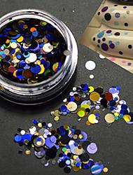 1bottle mode coloré mixte taille nail art beauté laser paillette ronde paillette coupe décoration p7