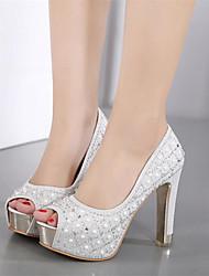 Da donna Tacchi Innovativo Club Shoes Finta pelle Primavera Estate Matrimonio Serata e festa Innovativo Club Shoes Con diamantini Quadrato
