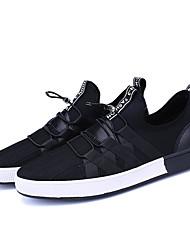 Herren-Sneakers Frühjahr fallen Komfort PU lässig schwarz