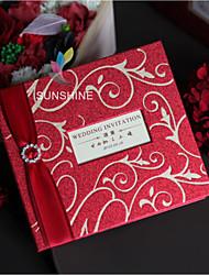 Personnalisé Pliée Invitations de mariage Cartes d'invitation Le style rétro Style moderne Papier Perlé