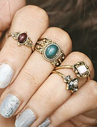 4Pcs/set Palace Midi Rings Unique Design Alloy Jewelry For Party Halloween Daily Casual 1 Set