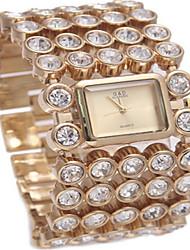 Жен. Модные часы Часы-браслет Кварцевый сплав Группа Серебристый металл Золотистый