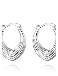 Hoop Earrings JewelryBasic Unique Design Dangling Style Natural Geometric Square Friendship Turkish Cute Style Movie Jewelry Euramerican