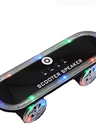 BT03 Skateboard Wireless bluetooth speaker Portable LED light Support FM Radio