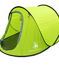 2 persons Tent Single Automatic Tent One Room Camping Tent Fiberglass OxfordWaterproof Breathability Ultraviolet Resistant Windproof