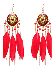lureme® Drop Earrings Jewelry Basic Friendship Gothic Euramerican Vintage Personalized Hypoallergenic Luxury Sideways Feather Wings / Feather
