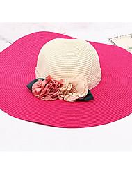 Wide Brim Straw Hat Women Flower Foldable Beach Sea Sun Hat Summer Hats Sunscreen Cap