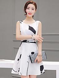 Women's Holiday Bodycon Dress,Solid Round Neck Midi Sleeveless Cashmere Spring Low Rise Micro-elastic Medium
