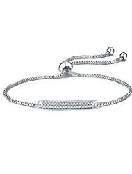 Women's Chain Bracelet Friendship Fashion Zircon Round Jewelry For Anniversary Gift Valentine Christmas Gifts 1pc