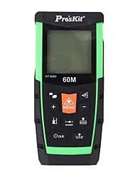 Proskit NT-8560 Handheld Digital 60m 196ft Laser Distance Measurer with Distance & Angle Measurement(1.5V AAA Batteries)