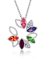 Women's Pendant Necklaces Jewelry Chrome Fashion Personalized Euramerican Floral Jewelry For Wedding Party Congratulations