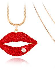 Mulheres Colares com Pendentes Cristal Original Personalizado Euramerican Moda Branco Vermelho Jóias Para Casamento Festa 1peça