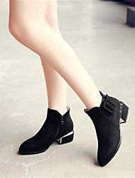 Feminino-Saltos-Chanel-Salto Grosso Salto de bloco--Couro Ecológico-Casual