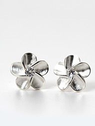 Stud Earrings Unique Design Fashion Sterling Silver Flower Silvery Jewelry For Thank You Daily Casual 1 pair