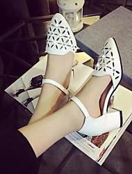 Damen Sandalen Komfort PU Frühling Lässig Weiß Silber 5 - 7 cm