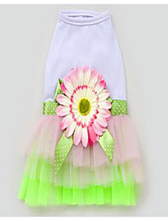 Chien Robe Vêtements pour Chien Eté Printemps/Automne Princesse Mignon Mode Décontracté / Quotidien Vert