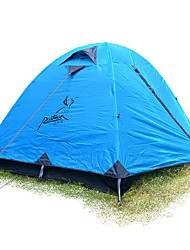 2 persons Tent Single Fold Tent One Room Camping Tent >3000mm Fiberglass Oxford Waterproof Portable-Hiking Camping-Blue
