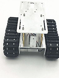 Metal tank chassis model with two motor 2wd crawler tracked vehicle caterpillar for DIY mobile platform for robot arm track