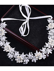 Crystal Luxury Pearl Headpiece-Wedding Special Occasion Outdoor Headbands Head Chain Hair Tool 1 Piece