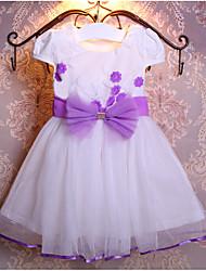 Girl's Solid Dress,Rayon Summer Short Sleeve