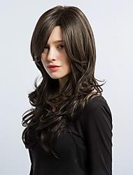 MAYSU Beautiful Brown Hair Mixed Color Long Curly Hair Synthetic Wig  Woman hair