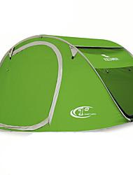 3-4 Personen Zelt Einzeln Automatisches Zelt Einzimmer Camping Zelt 1500-2000 mm GlasfaserFeuchtigkeitsundurchlässig Wasserdicht