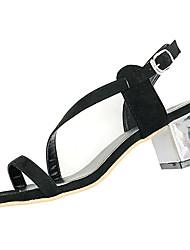 Damen-Sandalen-Lässig-Kaschmir-Niedriger Absatz-Komfort-