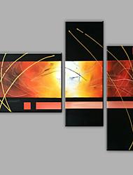 Pintados à mão Abstrato Qualquer Forma,Moderno 3 Painéis Tela Pintura a Óleo For Decoração para casa