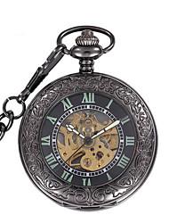 Masculino relógio mecânico Mecânico - de dar corda manualmente Noctilucente Lega Banda Vintage Preta Preto