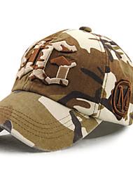 Unisex Women Men's Cotton Baseball/Peaked/Alpine Cap Sun Hat Casual Embroidery   Camouflage Print Outdoors Sports Summer Brown/Grey/Fuchsia
