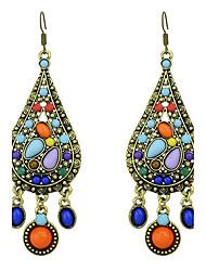 Mulheres Brincos em Argola Brinco Original Moda Estilo Boêmio Adorável Personalizado Euramerican bijuterias Formato Circular Forma