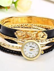 Bracelet de Montre Chinois Quartz Coloré Alliage Bande Bracelet Noir Blanc Bleu Rouge Kaki