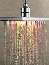 Contemporary Rain Shower Chrome Feature for  Rainfall Eco-friendly LED , Shower Head