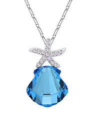 Women's Pendant Necklaces Jewelry Chrome Euramerican Fashion Personalized Light Blue Yellow Purple Jewelry ForWedding Party