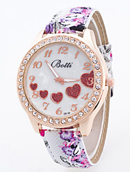 Women's Printed Diamond-Encrusted Quartz Watch