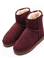 Da uomo Sneakers Comoda pattini delle coppie Nappa Tulle Pelle Primavera Casual Rosso Rosa Marrone scuro Piatto