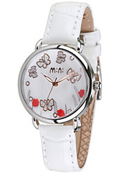 Women's Fashion Watch Japanese Japanese Quartz / Leather Band Casual Black Red Black White