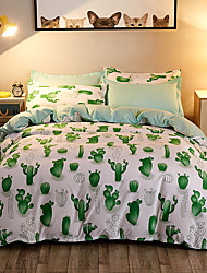Duvet Cover Sets 3D(random pattern) 4 Piece Poly/Cotton Reactive Print Poly/Cotton (If Twin size, only 1 Sham or Pillowcase)