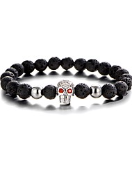 Men's Strand Bracelet Multi-stone Fashion Gold Plated Skull / Skeleton Jewelry For Gift Sports 1pc
