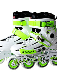 Unisex Adults' Inline Skates AdjustableGreen/White