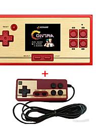 Rs-30 classic rétro console de jeux portable portable 2.6 600 jeux pochette gratuite cartouche 2ème contrôleur de lecteur pour fc