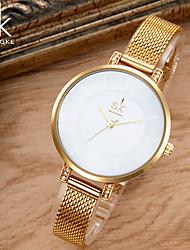 SK Mulheres Relógio de Moda Bracele Relógio Único Criativo relógio Japanês Quartzo Impermeável Resistente ao Choque Metal Lega Banda