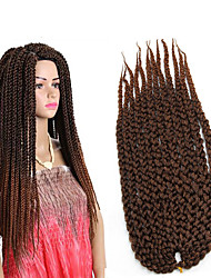 3D Cubic Twist synthetic Crochet Braids 22inch kanekalon Hair Ombre Braiding synthetic braiding Crochet Twist Box Braids Hair 6-8pieces make full head